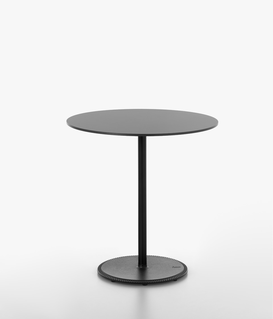 Plank - BON table, black table base, black HPL table top