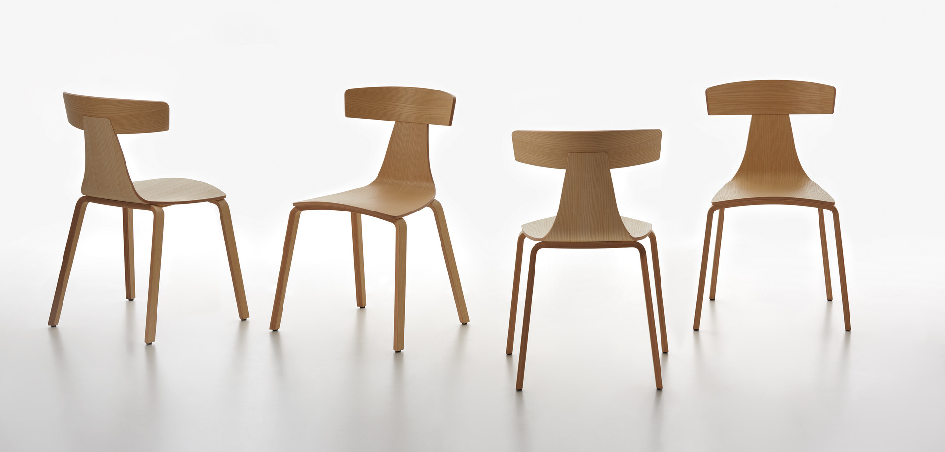 Plank - REMO wood chair, ash natural, all sides