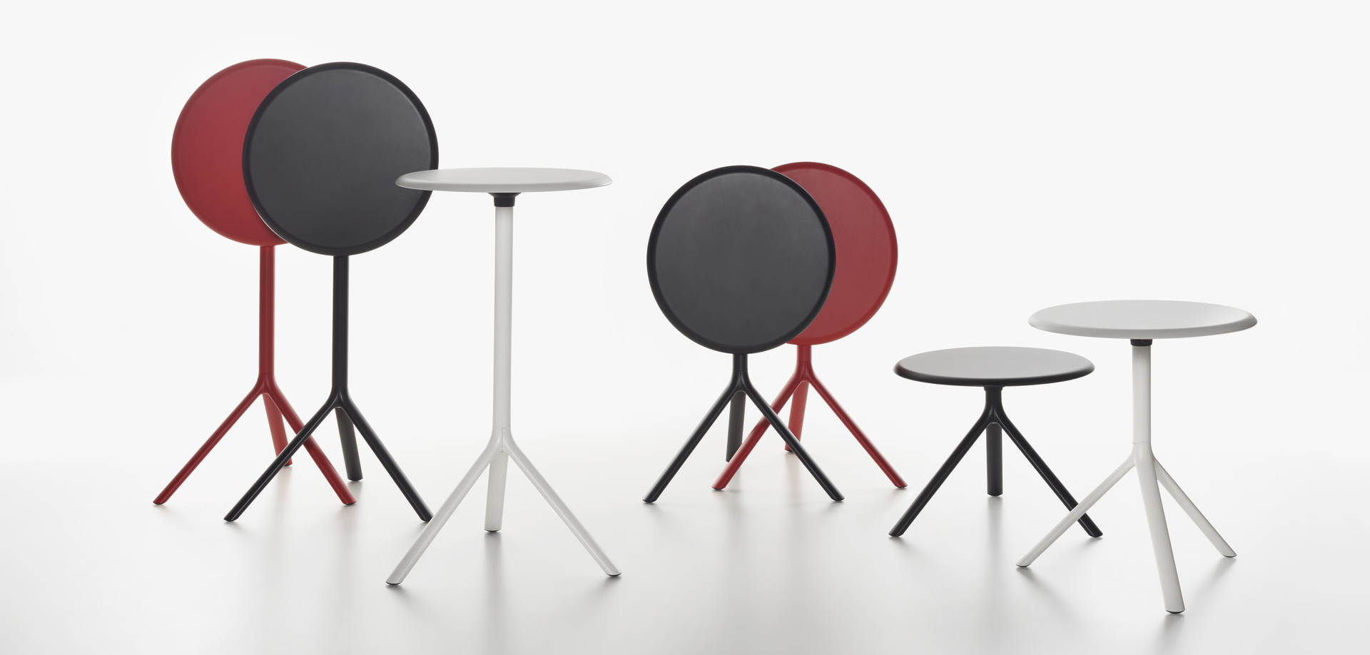 Plank - MIURA table, round table top, 50 cm high - group with others