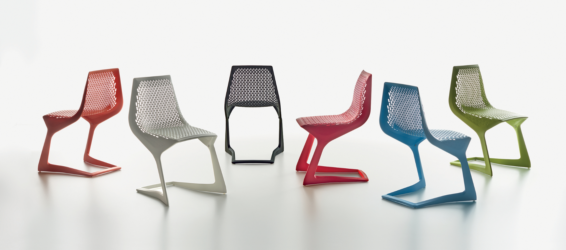 Plank - MYTO chair, plastic, pure-orange, white, black, traffic-red, light-blue, yellow-green.